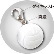 可愛いバレーボール(ホワイト)。