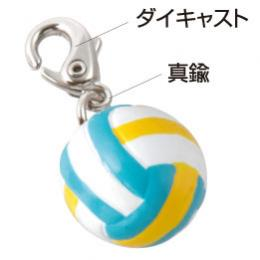 ミニフィギュアバレーボール(水色)